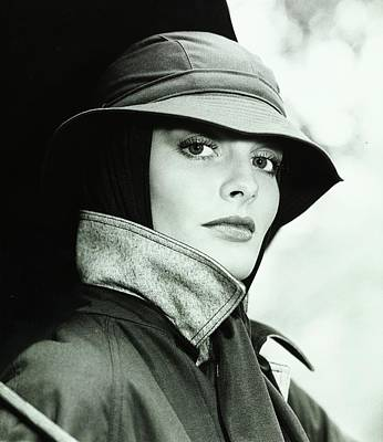 Rain Hat Photograph - Rene Russo Wearing A Hat by Francesco Scavullo