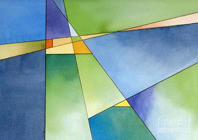Renewal Geometric Abstract Original by Cherilynn Wood
