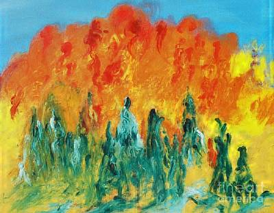 Painting - Renewal by Mounir Mounir