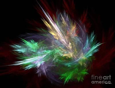 Inner Self Digital Art - Renewal / Spring Puff by Elizabeth McTaggart