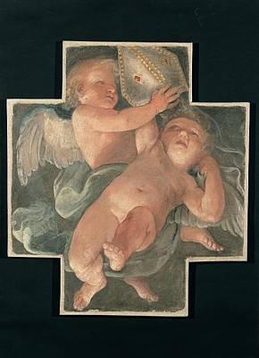 Reni Guido, Putti Carrying Mitre, 1613 Art Print