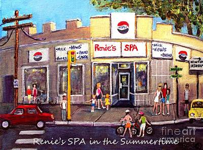 Painting - Renie's Spa In Summertime by Rita Brown