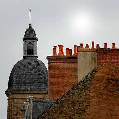Photograph - Rennes Rooftops by Joe Bonita