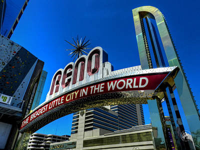 Photograph - Reno Arch  by Lance Vaughn