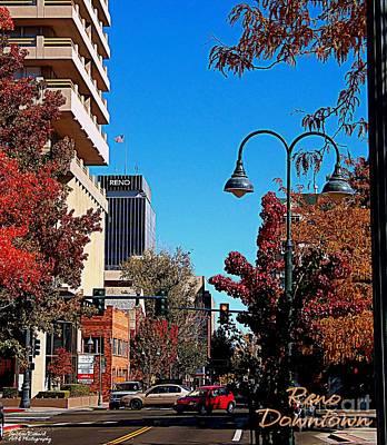 Photograph - Reno Downtown by Bobbee Rickard