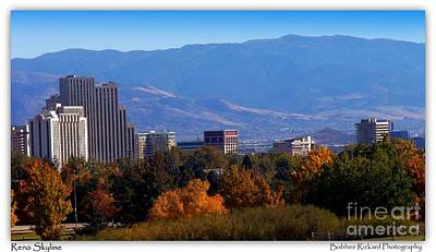 Photograph - Reno Fall Skyline by Bobbee Rickard