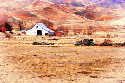 Photograph - Reno Hillside Barn by William Havle