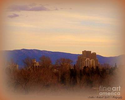 Photograph - Reno In The Mist by Bobbee Rickard