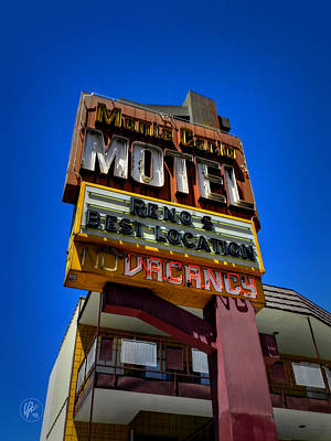 Photograph - Reno - Monte Carlo Motel by Lance Vaughn