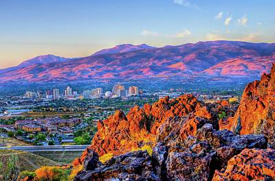 Reno Nevada Sunrise Art Print