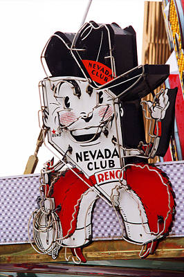 World Map Poster Photograph - Reno - Old Nevada Club by Frank Romeo