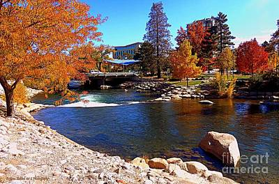 Photograph - Reno Riverwalk 2 by Bobbee Rickard