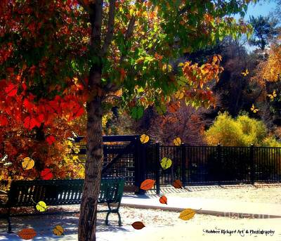 Rivers In The Fall Digital Art - Reno Riverwalk In The Fall by Bobbee Rickard