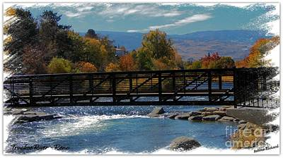 Photograph - Reno Riverwalk Painting by Bobbee Rickard