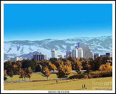 Reno Skyline From Rancho San Rafael Art Print by Bobbee Rickard
