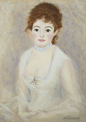 Renoir's Lady Art Print by Marna Edwards Flavell