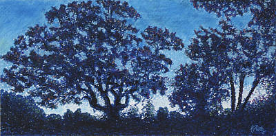Landscape Pastel - Rensing Tree by Michele Fritz