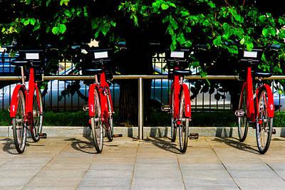 Rent-a-bike - Featured 3 Art Print by Alexander Senin
