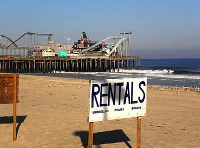 Rentals At The Shore Art Print