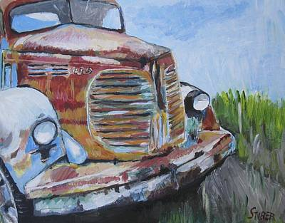 Junk Yard Painting - Reo Speedwagon by Kathy Stiber