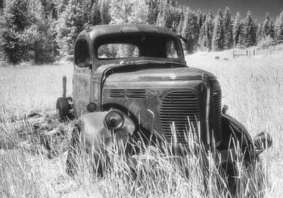 Infra-red Photograph - Reo Truck by Latah Trail Foundation