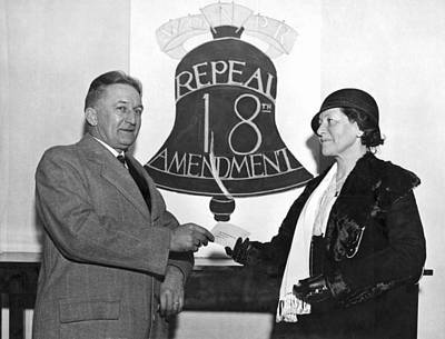 Repeal Prohibition Supporters Art Print by Underwood Archives