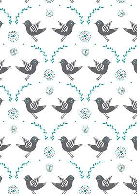 Lovebird Wall Art - Photograph - Repeat Lovebird by Susan Claire
