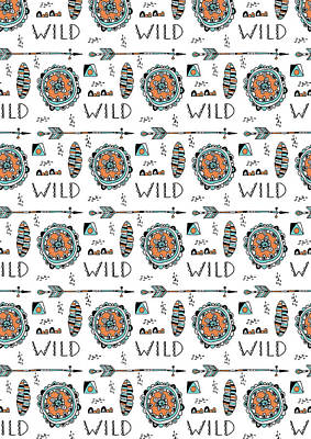 Repeat Print - Wild Art Print by Susan Claire