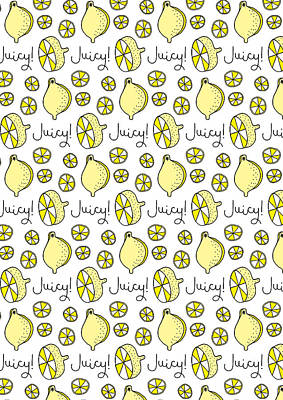 Repeat Prtin - Juicy Lemon Art Print by Susan Claire