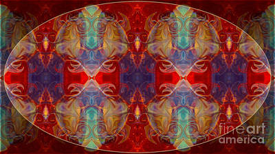 Digital Art - Repeating Realities Abstract Pattern Artwork By Omaste Witkowski by Omaste Witkowski