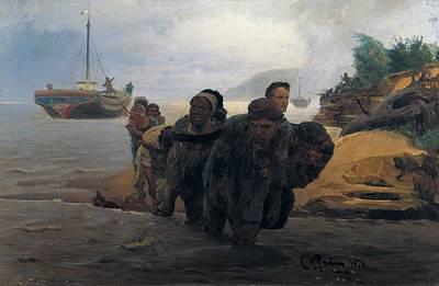 Realistic Photograph - Repin, Ilya Yefimovich 1844-1930. Barge by Everett