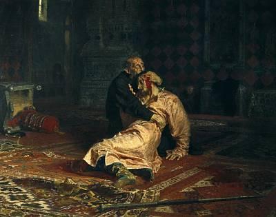 Raging Photograph - Repin, Ilya Yefimovich 1844-1930. Ivan by Everett