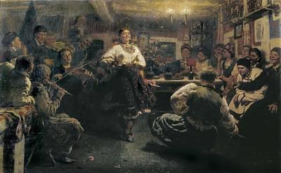 Repin, Ilya Yefimovich 1844-1930. The Art Print by Everett