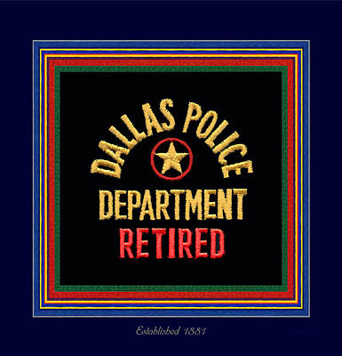 Replica D P D Patch - Retired With Epaulette Colors Art Print by Robert J Sadler