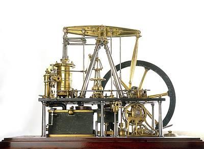 Watt Photograph - Replica Of James Watt's Steam Engine by Dorling Kindersley/uig