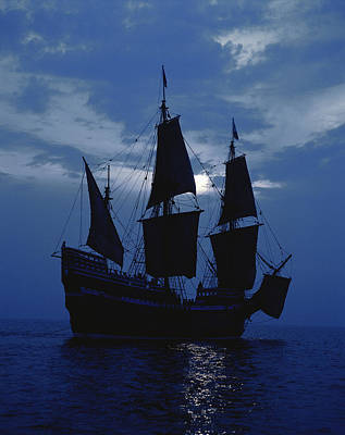 Mayflower Photograph - Replica Of Mayflower II by Panoramic Images