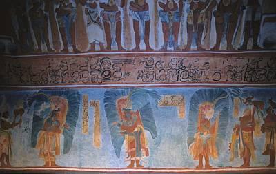 Maya Civilization Photograph - Replica Of The Mayan Wall Paintings by Everett