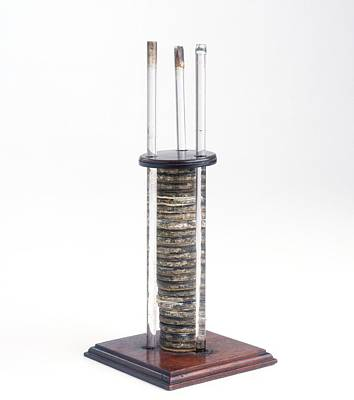 Single Object Photograph - Replica Of The Voltaic Pile by Dorling Kindersley/uig