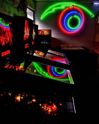 Photograph - Replicant Arcade by Benjamin Yeager