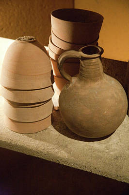 Replicas Of Ancient Essene Pottery Art Print by Dave Bartruff