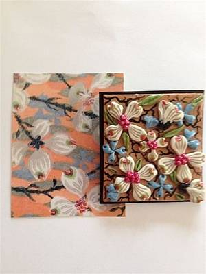 Polymer Drawing - Replication Of Charles Burchfield's Dogwood Flowers In Polymer by Rosanna Cappellino