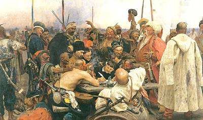 Painting - Reply Of The Cossacks by Ilya Repin