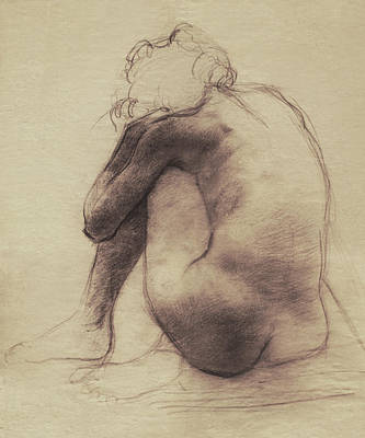 Nude Drawing - Repose by Eric Fan