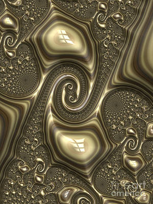 Embossed Digital Art - Repousse In Bronze by John Edwards