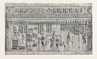 Representation Of The Egyptian Judgment Of The Dead Art Print by Litz Collection