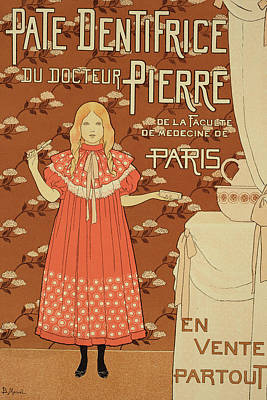 Graphic Drawing - Reproduction Of A Poster Advertising Doctor Peters Toothpaste by Louis Maurice boutet de Monvel