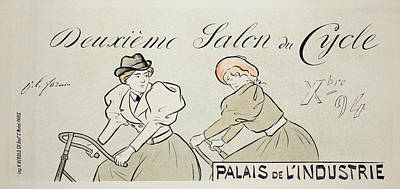 Cycling Drawing - Reproduction Of A Poster Advertising by Jean Louis Forain