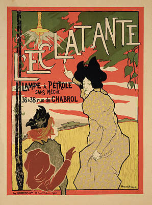 Red Drawing - Reproduction Of A Poster Advertising by Manuel Robbe