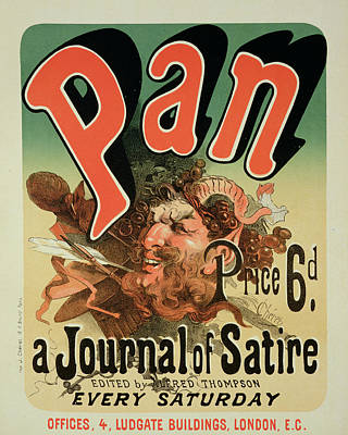 Satirical Painting - Reproduction Of A Poster Advertising Pan by Jules Cheret