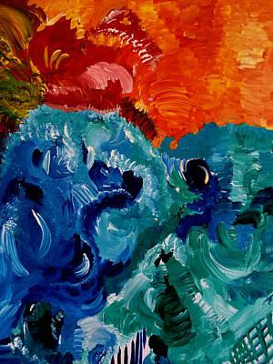 Reptile Sea And Sun Fun Art Print